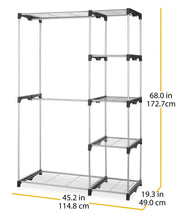 Load image into Gallery viewer, Buy whitmor double rod freestanding closet heavy duty storage organizer