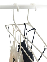 Load image into Gallery viewer, Kitchen white plastic clothes hangers the best choice everyday standard suit clothe hanger target set bulk beauty closet room pack adult clothing drying rack dress form shirt coat hangers with j hooks