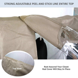 Select nice garment cover for closet rod and portable clothing rack shoulder dust cover protect your wardrobe in style adjustable to fit 20 to 36 long 6 pack