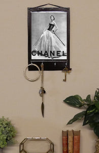 Chanel Print Key Rack Holder
