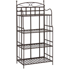Load image into Gallery viewer, 4-Tier Bakers Rack Storage Organizer - Brown