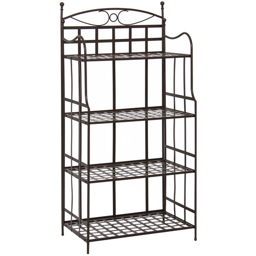 4-Tier Bakers Rack Storage Organizer - Brown