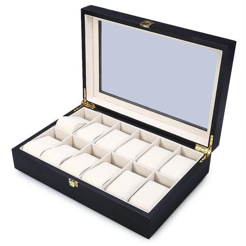 Luxury Wooden Watch Box 12 Slots