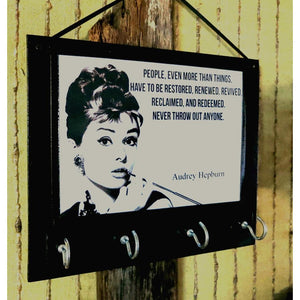 Audrey Hepburn Storage Key Rack