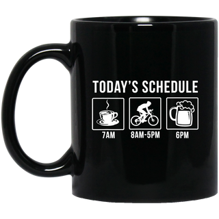 Cyclist Coffee Beer Drinker Black Mug