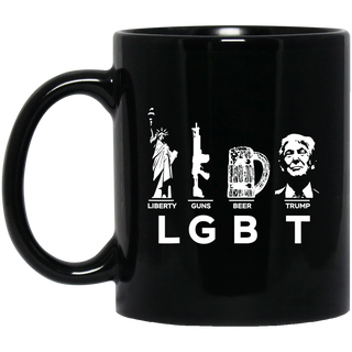 Liberty Guns Beer Trump LGBT Black Mug