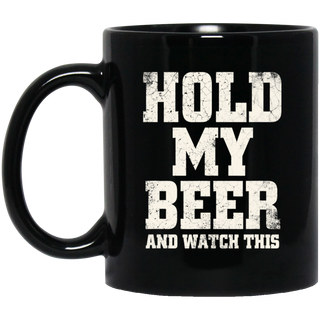 Hold My Beer And Watch This Distressed Redneck Black Mug