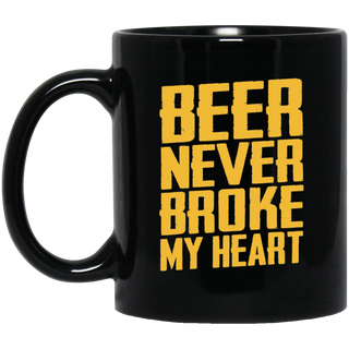 Beer Never Broke My Heart Drinking Black Mug