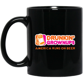 New Color Drunken Grownups American Run On Beer Black Mug