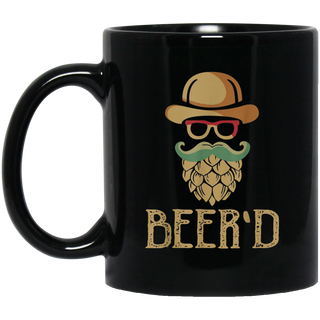 Beer'd Vintage Beard Black Mug