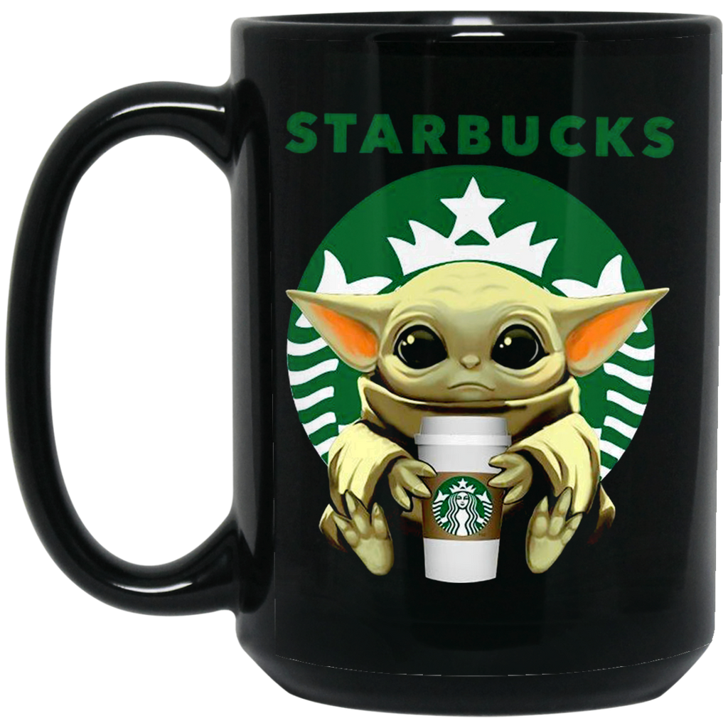 Baby Yoda Drink Starbucks Black Mug