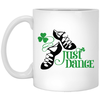 Just Dance Irish Patricks Day White Mug