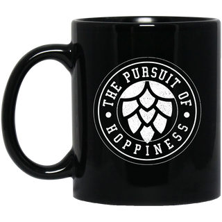 Craft Beer Hops IPA Hoppiness Gift Black Mug