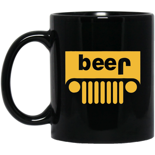 Adult Jeep Beer Drinking Logo Black Mug