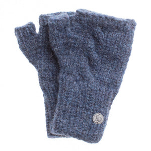 Fingerlose Handschuhe denim