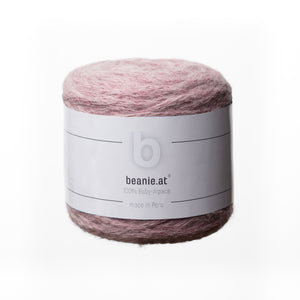 Beanie.at exklusiv 100% Baby-Alpaka Wolle rose-quarz