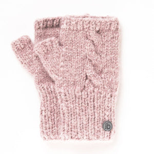 Fingerlose Handschuhe rose-quarz
