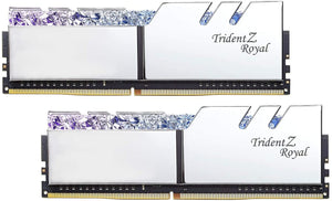 G.Skill 16GB DDR4 Trident Z Royal Silver 3200Mhz (2x8GB)