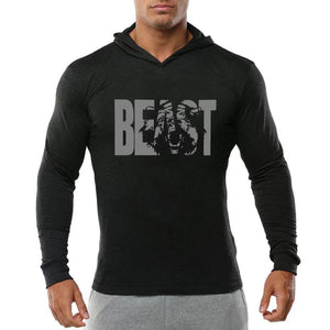 Fitness long-sleeved hooded sweater(HD046)