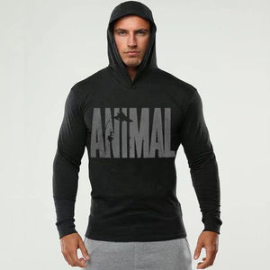 Fitness long-sleeved hooded sweater(HD045)