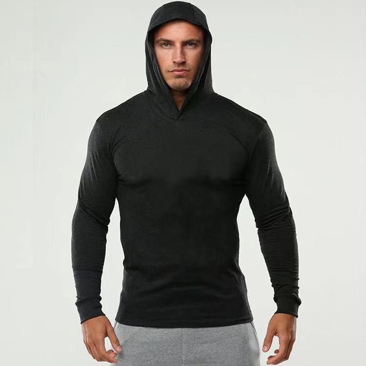 Fitness long-sleeved hooded sweater(HD001)