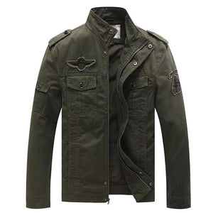 Men's loose embroidered military jacket(666802)