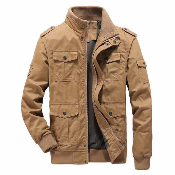 Multi-pocket tooling outdoor casual loose coat(9963)