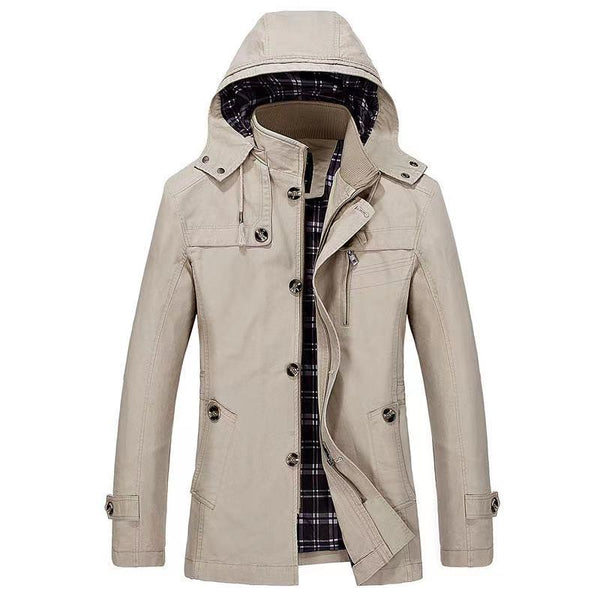 Multi-pocket tooling outdoor casual loose coat(1311)
