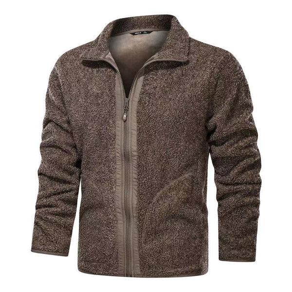 men's Oversized fleece warm jacket