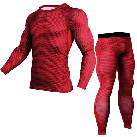 Fall/winter running gym compression clothes quick-drying long-sleeved clothes