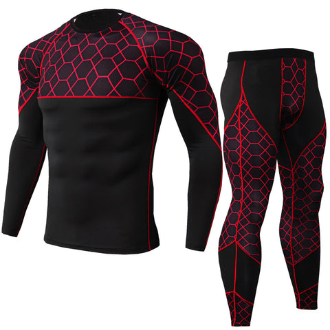Stretch quick-drying suit long sleeve + trousers