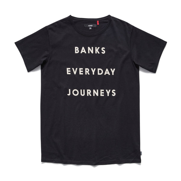 Banks - Everyday Journeys Tee - Dirty Black