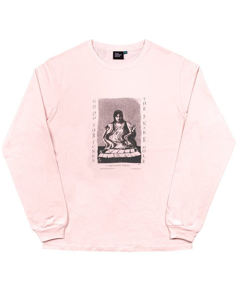 The Snake Hole - Good Fortune L/S Tee - Washed Pink