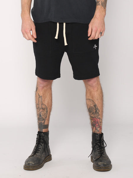 Thrills - Outline Palm Trackshorts - Black