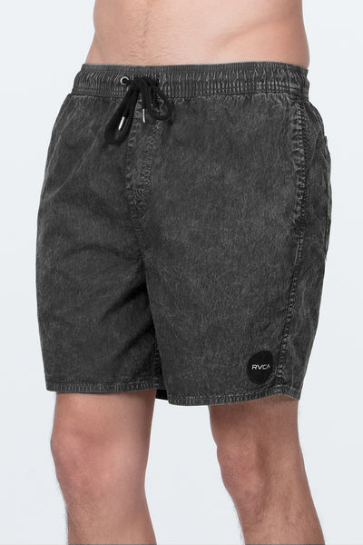 RVCA - Motors Acid Elastic Beach Short - Black Acid