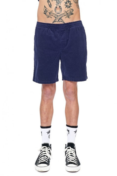 Stussy - Basic Cord Beachshort - Washed Navy