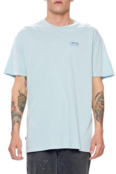 Stussy - Pigment Basic Tee - Dirty Ice Blue