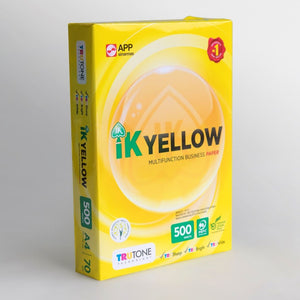 IK Yellow A4 Photocopy Paper 70GSM (500'S) - Box (5 reams)