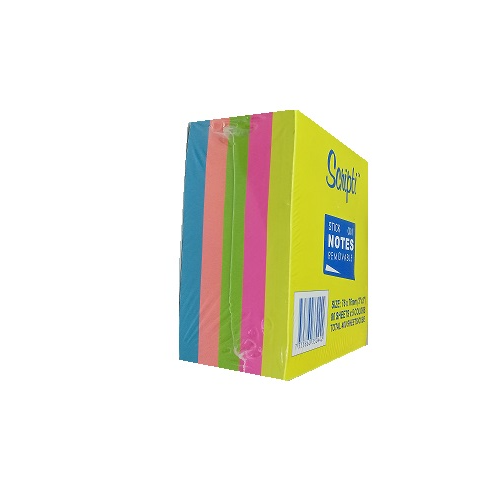 Scripti Removable Stick-On Notes 5 Neon Colour Cube 400s