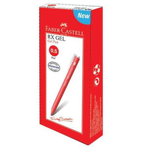 Faber Castell RX Gel Pen 0.5mm red