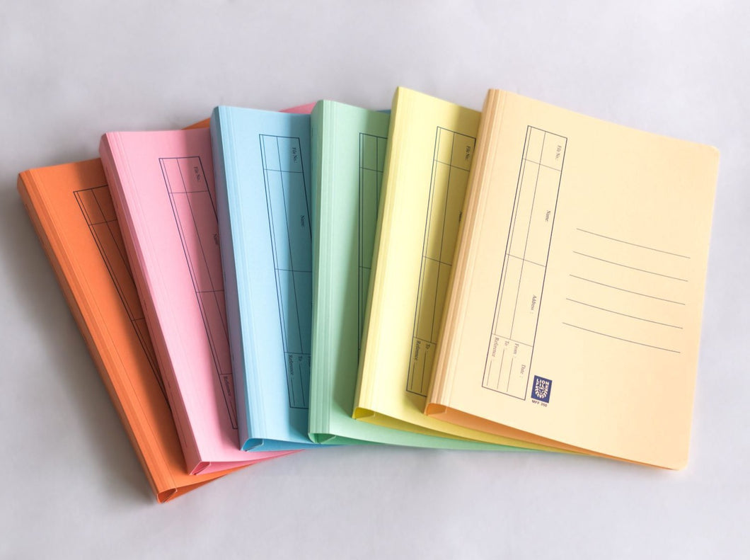Lion File Affordable Manila Files with Spring Mechanism. - Assorted Colors - Carton