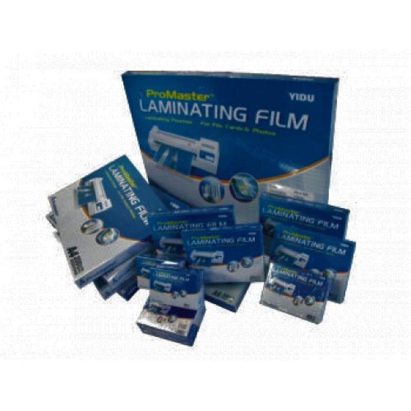 Promaster Laminating Film Small Size 100's - Various Sizes