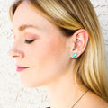 "Throat Chakra Gemstone Earrings | Amazonite Gemstone Earrings | The ""Live True"" Earrings"