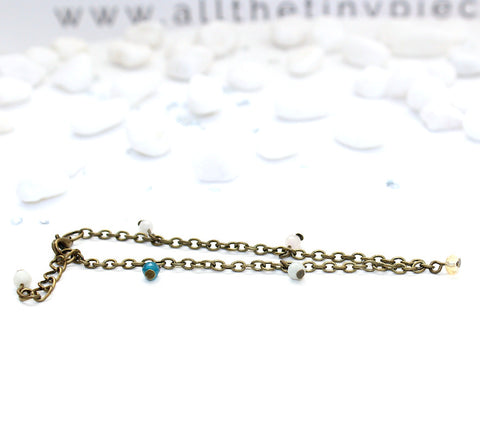 Dainty Multi Gemstone Anklet - Natural Gemstone Jewelry