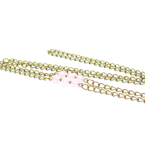 Mask Chain - Rose Quartz