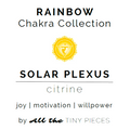 "Solar Plexus Chakra Gemstone Earrings | Citrine Gemstone Earrings | The ""Will to Thrive"" Earrings"