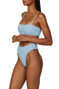 Sol Bikini Bottom in Light Blue