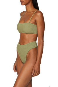 Sol Bikini Top in Olive Green