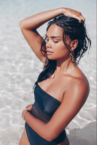 Moala One Piece in Black Mesh