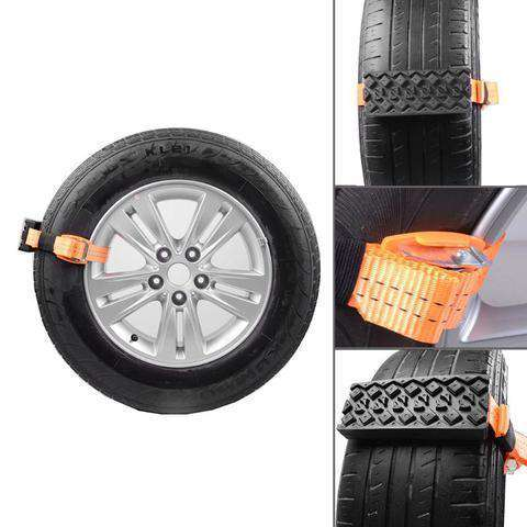 Creative Essentials® Crosser - Emergency Tire Straps (Set Of 2) - Blazing Dealz